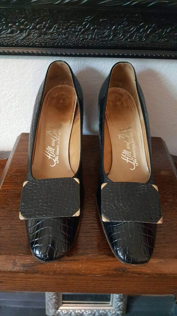 1960s Vintage Hill and David Embossed Faux Alligat