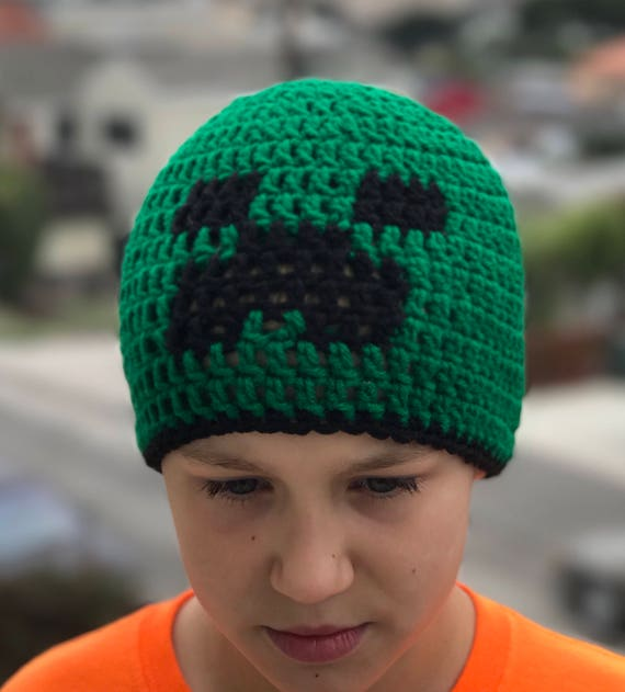 27c56a06acd Minecraft inspired Creeper Hat-Halloween Hat-Baby Creeper