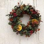 Eucalyptus Wreath, Small Eucalyptus Wreath, All Natural Wreath, Green Eucalyptus Wreath, Rust Eucalyptus Wreath, Wreath, Dried Flower Wreath