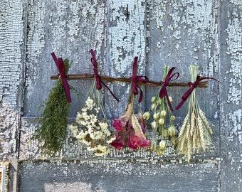Dried Flower Rack, Dried  Herb Rack, Flower Rack, Dried Flowers Hanging, Dried Flower Bunches, Dried Flower Hanging, Dried Flowers