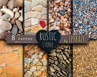 Stone Digital Paper Rustic Background Stones Rock Beach