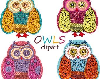 Owls. Digital clip arts. Owls clipart. Digital owls. Clipart. Cute owl clipart