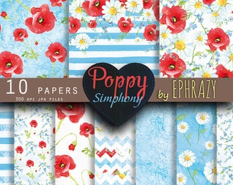 Watercolor digital paper. Floral digital paper. Shabby chic. Floral paper. Lace digital paper. Flowers paper. Floral papers. Wild