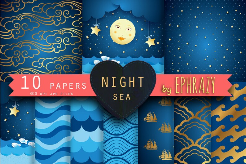 Star digital paper Stars digital paper. Navy digital paper Star paper Nautical digital Blue digital paper Navy