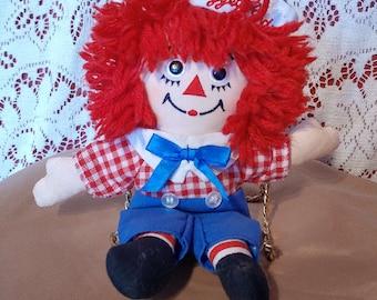 Vintage dummy Raggedy Ann, Raggedy Ann doll, VTG doll for children mid-century