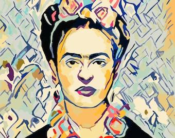 Frida Kahlo DIY Paint By Number Kit Adult   Adult Paint by Numbers Kit   Adult Craft Kit, Painting Kit, DIY Kit, Paint Kit Art Kit Feminist