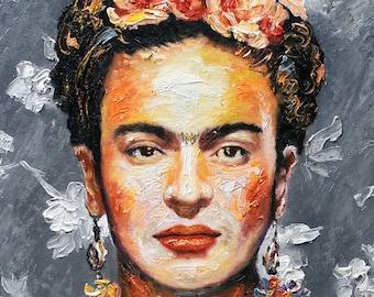 Frida Kahlo Wall Art Print. Frida Kahlo Painting. Frida Kahlo Poster. Frida Kahlo Gift. Frida Portrait Art. Frida Watercolor Print, Pop Art