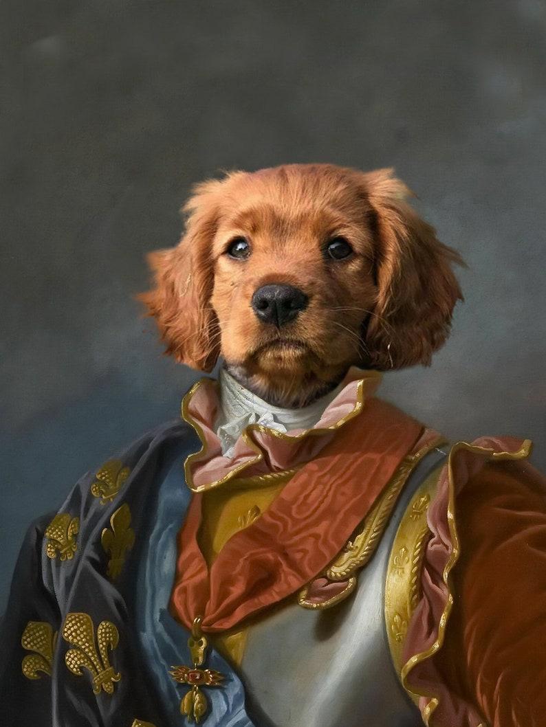 Custom Pet Portraits,Dog or Cat Portrait,Custom Renaissance  Knight Pet Portrait,Custom Pet Knight Portrait,framed pet canvas V077
