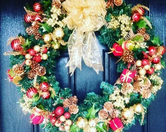 xmas wreaths xmas decor holiday wreaths for front door holiday wreath gorgeous christmas wreaths lighted christmas wreath xmas - Christmas Wreaths Etsy