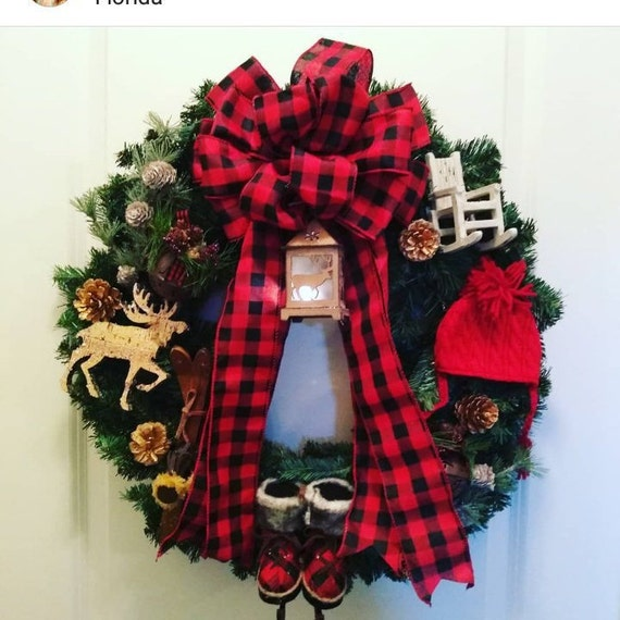 Country Christmas Decorations.Country Christmas Decor 18 Inches Christmas Door Wreath Country Wreath For Christmas Mountain Holiday Decorations