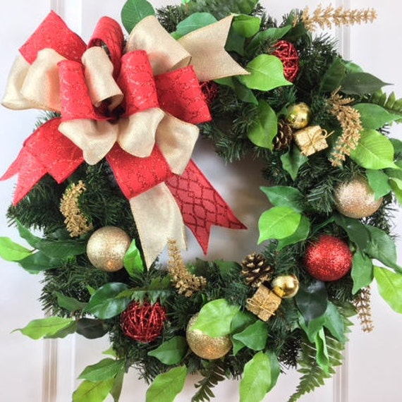image 0 - Artificial Christmas Wreaths Decorated