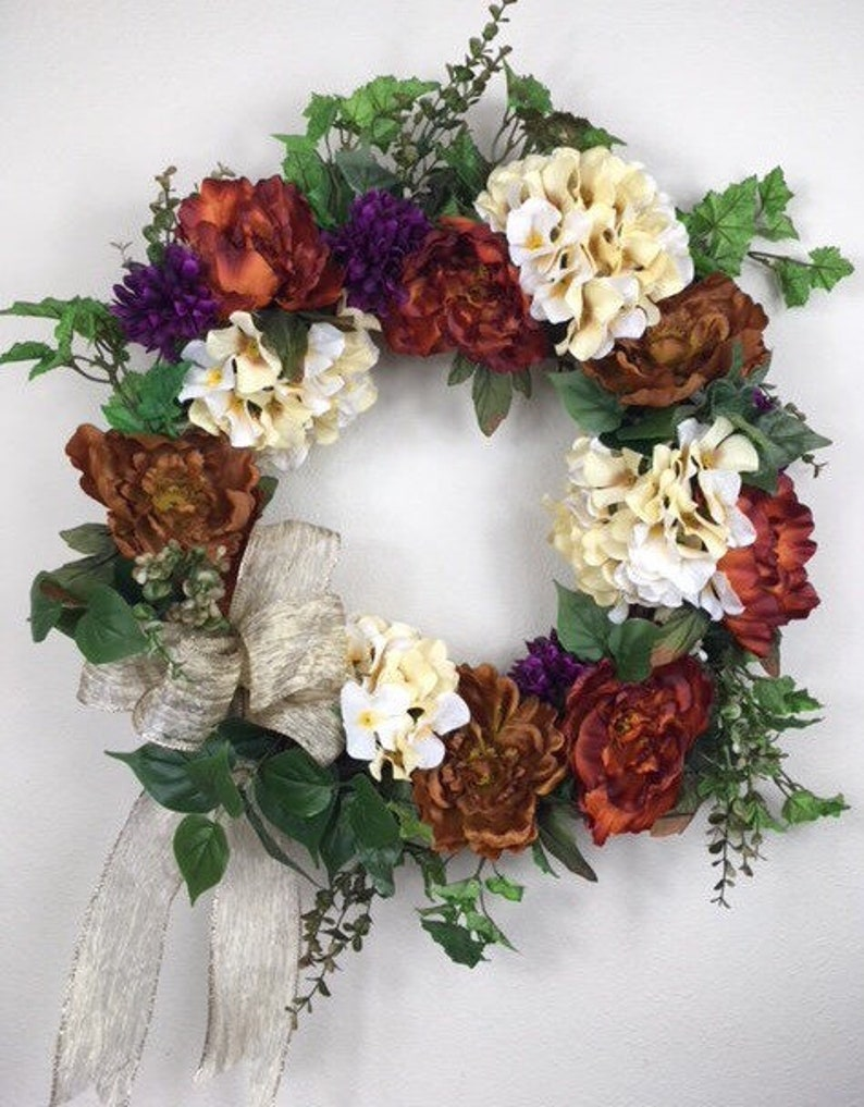 Best Fall Wreath Best Autumn Wreath Hydrangea Door Fall Decor Etsy