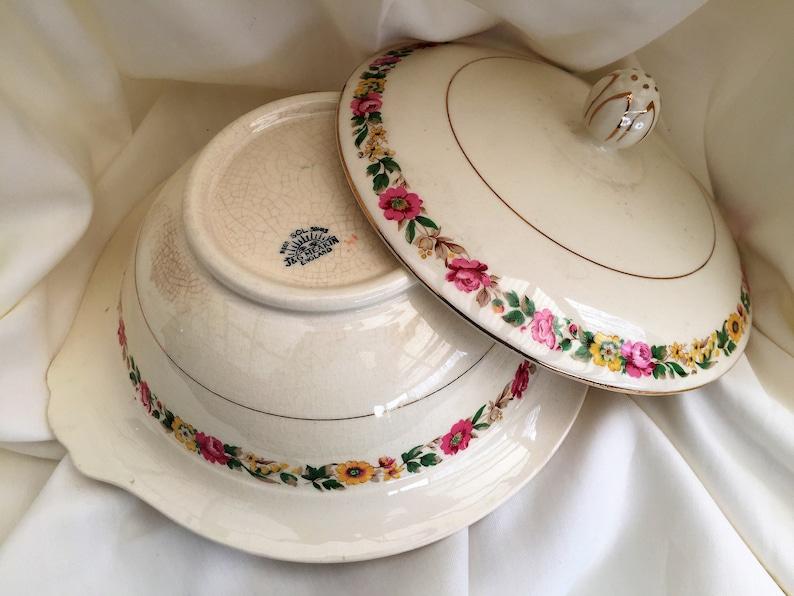 J & G Meakin Vintage en céramique légumes saladier avec couvercle VCH0352