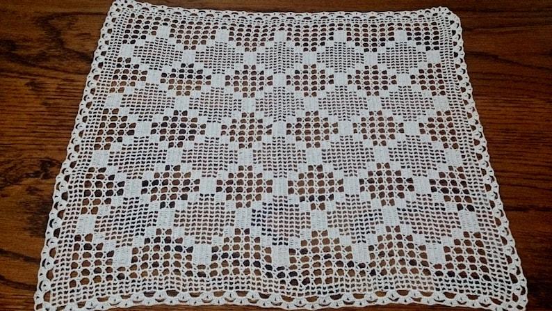 399a0460d475a3 Grote Vintage Filet haken Lace kleedje antieke linnen witte