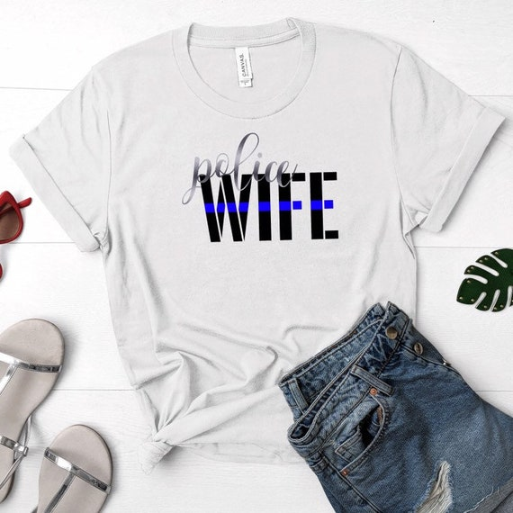 Unisex shirt Back the blue LEO Wife Back the badge Plus sizes available Thin blue line Heart the blue