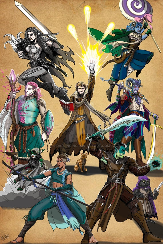 Criticalrole Fan Art Of The Week Winner Etsy How does one get their prints in front of matt mercer and the rest of the cast? criticalrole fan art of the week winner