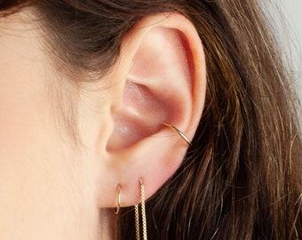 dainty ear cuff, fake conch piercing, ear cuff no piercing, conch earring gold, ear cuff wrap, gold ear cuff