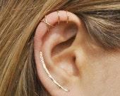 Set of 3 - Ear Climber, Ear Cuff, Double Ear Cuff, Earring Climbers 30mm, Criss Cross Ear Cuff, Climber Earrings, Ear Crawlers, Earrings Pin