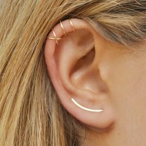 Ear Sweep Ear Crawler 14K Yellow Gold Ear Climbers 25 MM Ear Cuff Women/'s Ear Band