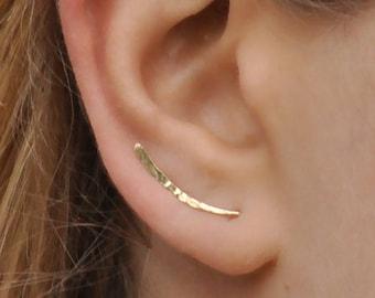 Ear Climber, Ear Climbers Earrings, Gold Ear Pins, Climber Earrings 20mm, Ear Crawlers, Earrings Pin, Gold Earrings, Earring Pins