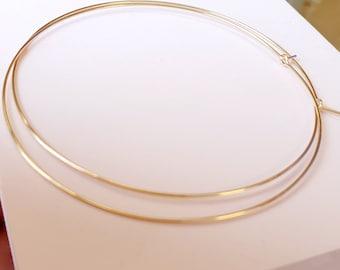 14k Gold Filled Hoops, Extra Large Hoops, Medium Hoop Earrings, Thin Gold Hoop Earrings, Minimalist Earrings 1-3 inch