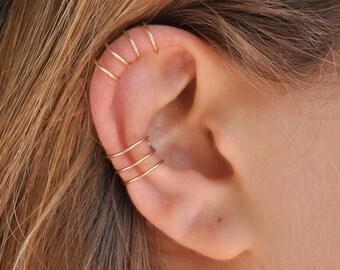Fake Conch Cuff, Ear Cuff, Cartilage Cuff, Fake Piercing, Minimalist Ear Cuff, Gold Filled Earrings, Silver Earrings, No Piercing, earcuff