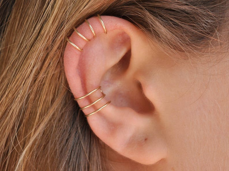 Fake Conch Cuff Ear Cuff Cartilage Cuff Fake Piercing image 0
