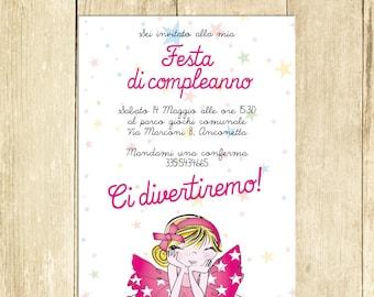 Invito Compleanno Ballerina, Invito Festa Compleanno, Invito Compleanno Stampato Invito Compleanno Digitale Invito Compleanno Stampabile