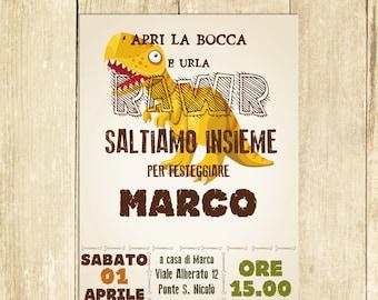 Invito Compleanno Dinosauro Invito Festa Compleanno Invito Compleanno Stampato Invito Compleanno Digitale Invito Compleanno Stampabile