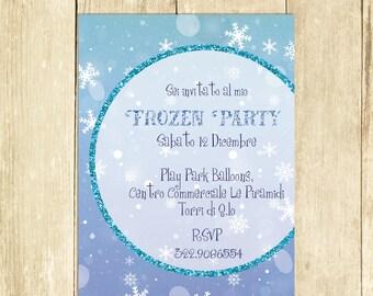 Invito Compleanno Frozen, Invito Festa Compleanno, Invito Compleanno Stampato Invito Compleanno Digitale Invito Compleanno Stampabile