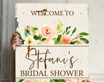 Rustic Bridal Shower Welcome Sign Pink White Floral Bridal Shower Sign Boho Bridal Shower Decor Decorations Bridal Shower Printed Foam Board