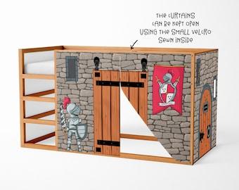 Speelhuis voor Ikea Kura Bed Dinosaur Playhouse Gordijnen   Etsy
