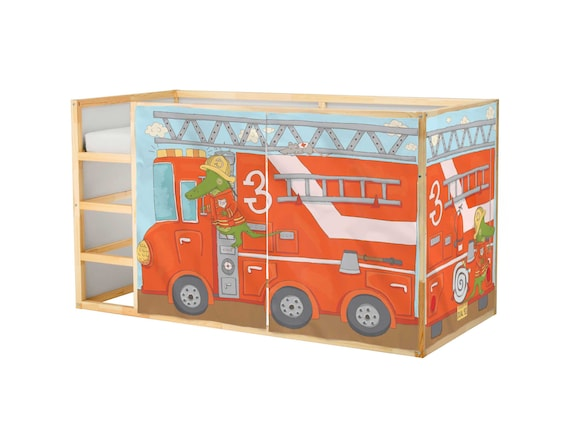 Spielhaus Fur Ikea Kura Bett Feuerwehrmann Spielhaus Etsy