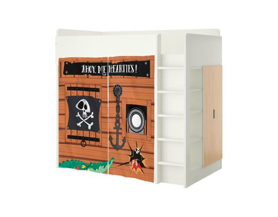 Playhouse For Ikea Stuva Bed Pirates Playhouse Curtains Loft Etsy
