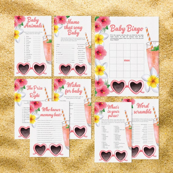 Aloha Baby Shower Games Package Ideas Activities Eight