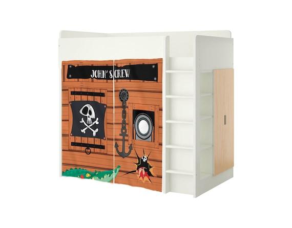 Custom Playhouse For Ikea Stuva Bed Pirates Playhouse Curtains