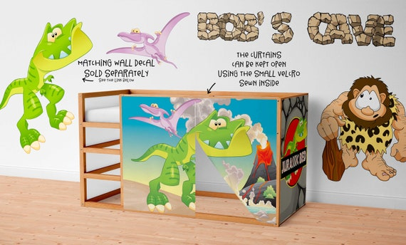 Playhouse For Ikea Kura Bed Dinosaur Playhouse Curtains Loft Bed