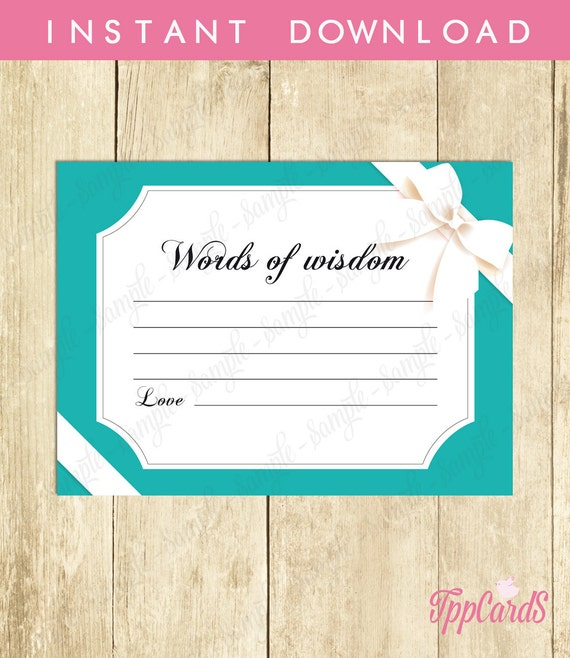 baby shower advice cards words of wisdom new mom party etsy