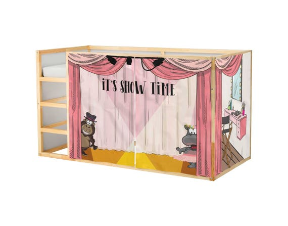 Playhouse For Ikea Kura Bed Voice Sing Playhouse Curtains Etsy
