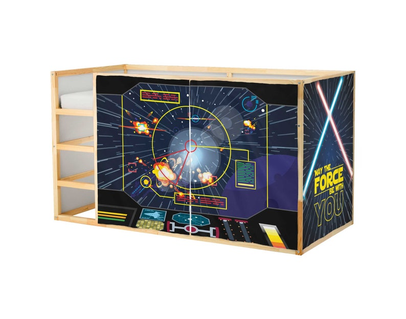 Spielhaus Ikea Kura Bett Star Wars Spielhaus Vorhänge Loft Etsy