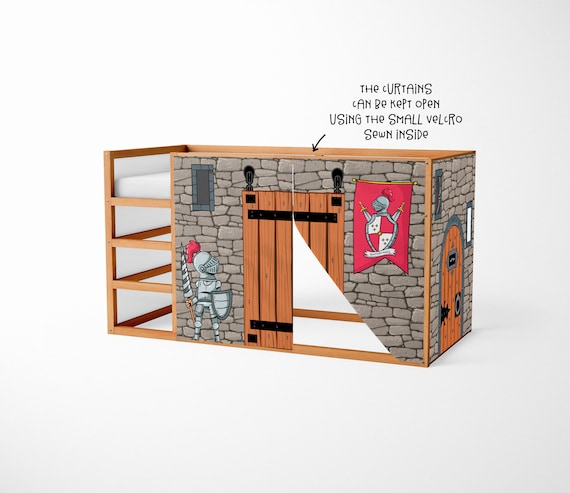 playhouse for ikea kura bed knight playhouse curtains. Black Bedroom Furniture Sets. Home Design Ideas