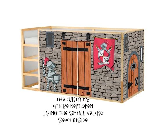 Spielhaus Für Ikea Kura Bett Ritter Spielhaus Vorhänge | Etsy