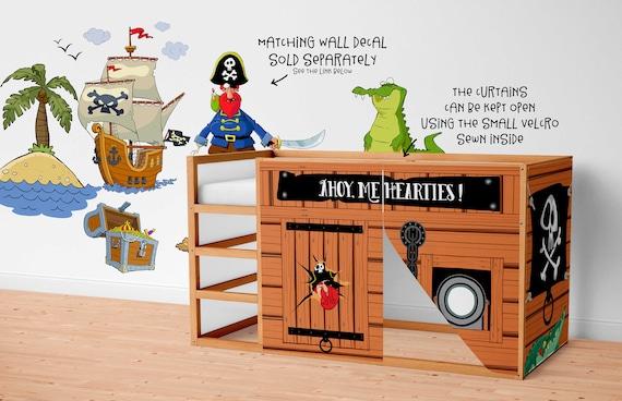 Ikea Etagenbett Kura : Spielhaus für ikea kura bett piraten vorhänge etsy