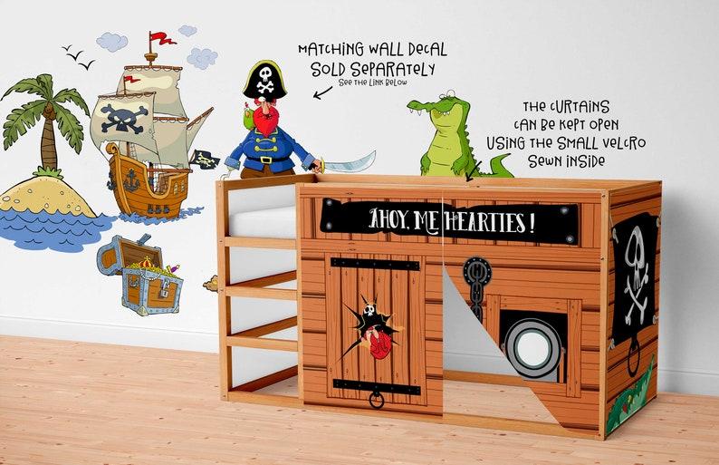 Etagenbett Ikea Mydal : Spielhaus für ikea kura bett piraten vorhänge loft etsy