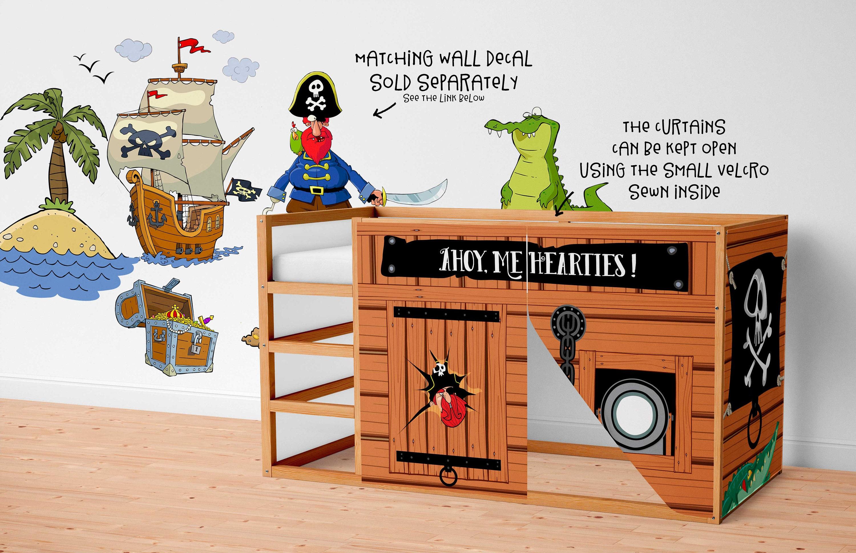 Spielhaus für ikea kura bett piraten spielhaus vorhänge etsy