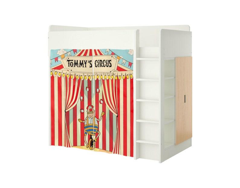 Etagenbett Zubehör Vorhänge : Spielhaus für ikea stuva bett benutzerdefinierte zirkus etsy