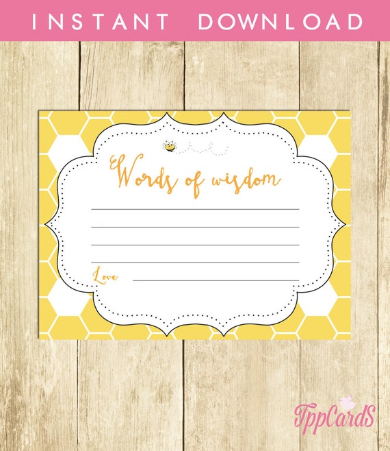 advice card baby shower words of wisdom new mom to be etsy