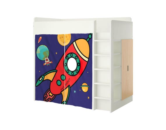 Playhouse Ikea Stuva Bed Rocket Ship Playhouse Curtains Loft Bed