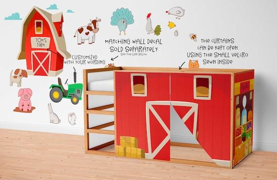 Bauernhof Spielhaus Vorhange Scheune Ikea Kura Bett Etsy