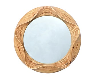 Ronde Houten Spiegel : Ronde houten badkamer meubels muur wand jute touw marine stijl etsy